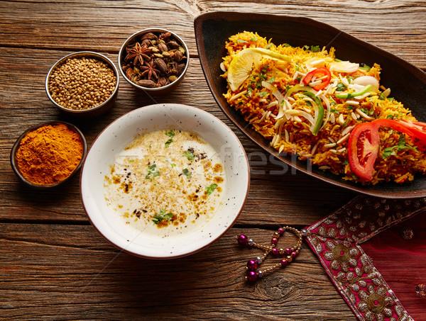 Pollo indio receta blanco sopa especias Foto stock © lunamarina