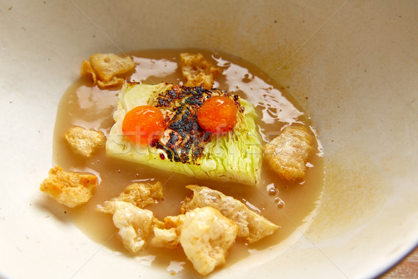 Cabbage stew with pork rinds Stock photo © lunamarina