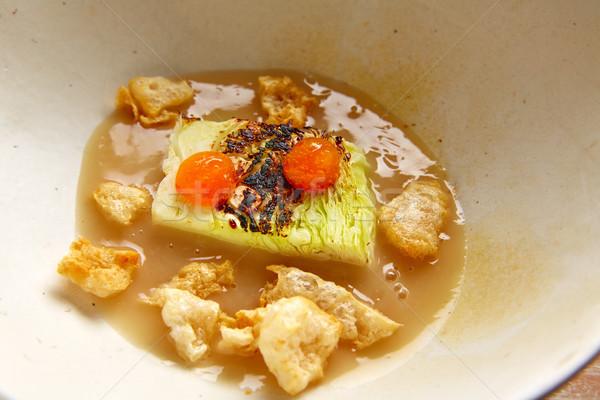 Repolho ensopado carne de porco cozinha restaurante jantar Foto stock © lunamarina