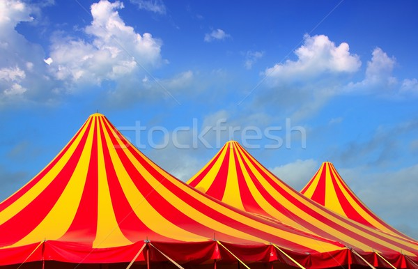 Circus tent red orange and yellow stripped pattern Stock photo © lunamarina