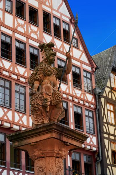 Frankfurt dame justitie standbeeld vierkante Duitsland Stockfoto © lunamarina