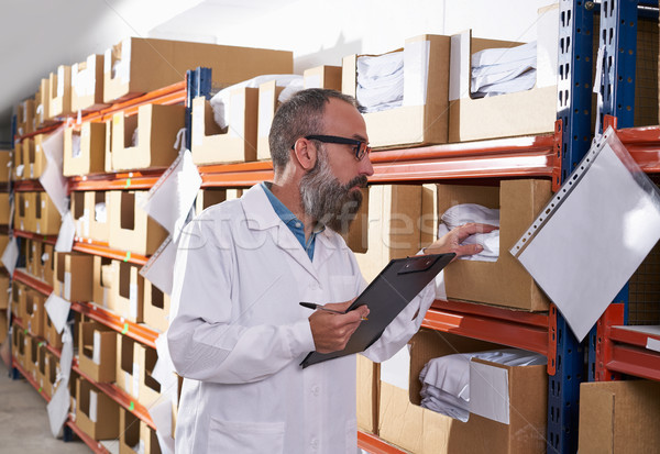 Almacén supervisor hombre moda fábrica gerente Foto stock © lunamarina
