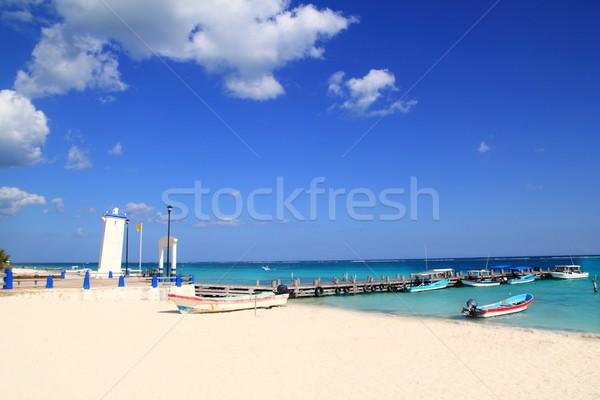 Farol furacão caribbean praia água natureza Foto stock © lunamarina