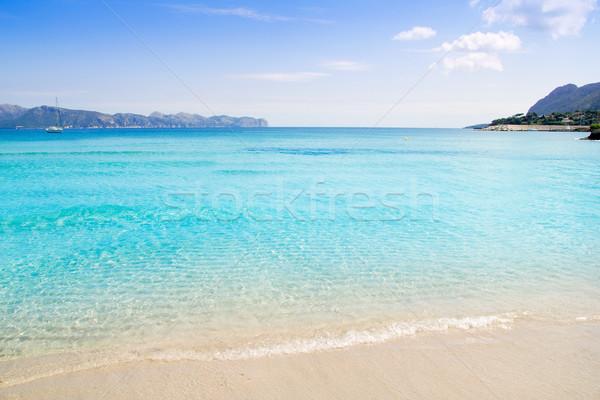 Alcudia beach in Cala San Pere from Balearic Mallorca Stock photo © lunamarina