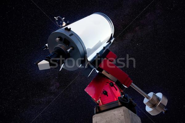 Astronomico telescopio stelle notte cielo notturno cielo Foto d'archivio © lunamarina