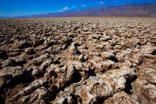 Devils golf course Death Valley salt clay formations Stock photo © lunamarina