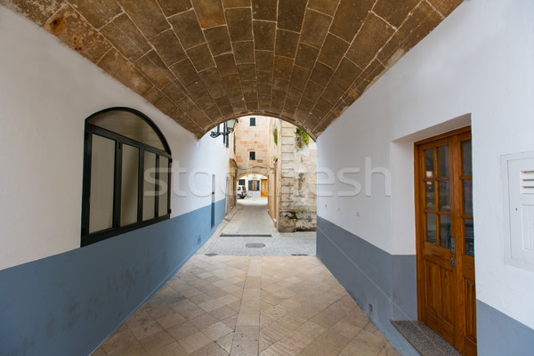 Ciutadella Menorca barrel vault passage downtown Stock photo © lunamarina