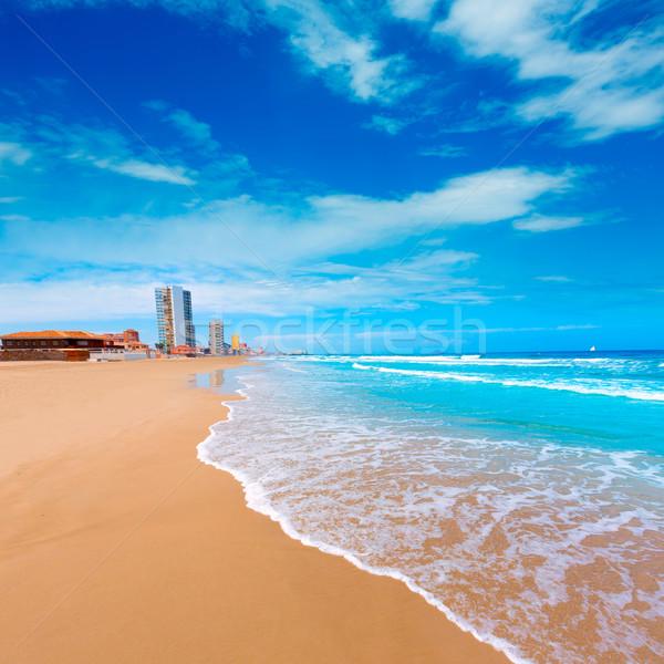 La manga plage Espagne nuages paysage Photo stock © lunamarina