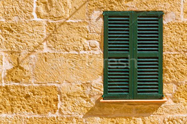 Alcudia Old Town wood shutters Mallorca Stock photo © lunamarina