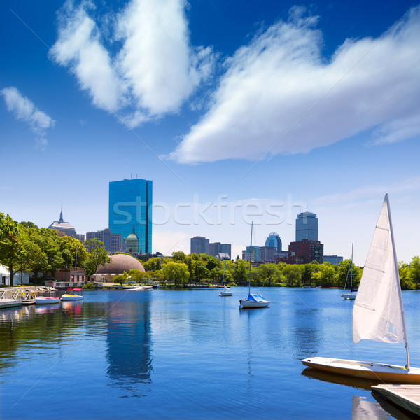 Boston sailboats Charles River at The Esplanade Stock photo © lunamarina