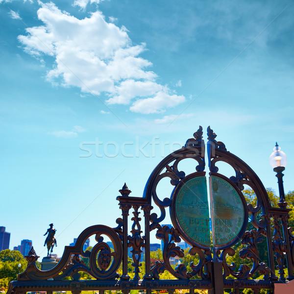 Boston Common Arlington gate George washington Stock photo © lunamarina