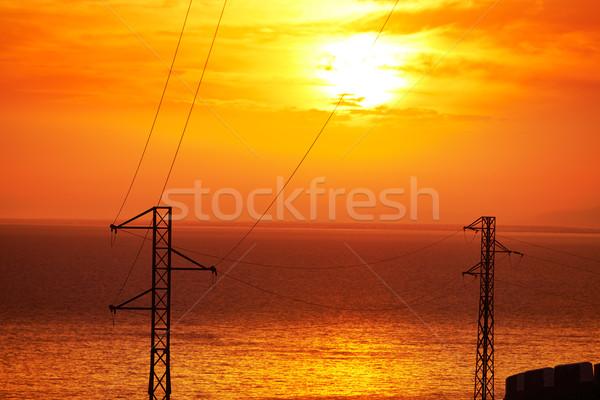 закат Средиземное море морем Испания небе воды Сток-фото © lunamarina