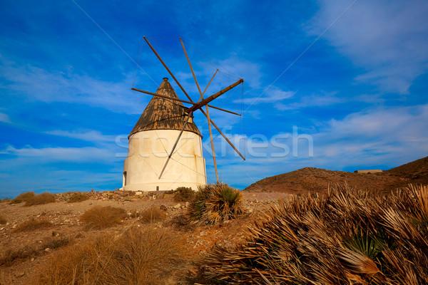 Almeria Molino de los Genoveses windmill Spain Stock photo © lunamarina