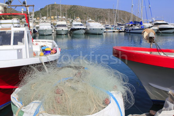 fishing net tackle professional fishermen Stock photo © lunamarina