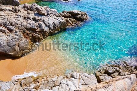 Stock photo: Cala Sa Boadella platja beach in Lloret de Mar
