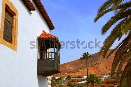 Village Espagne ville bleu architecture Photo stock © lunamarina