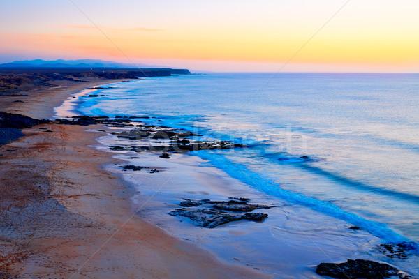 El cotillo beach sunset Fuerteventura Canary Island Stock photo © lunamarina