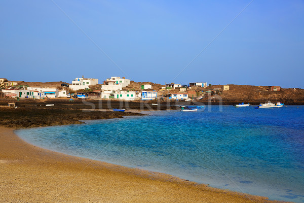 Majanicho Fuerteventura at Canary Islands Stock photo © lunamarina
