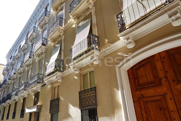 Valencia strada Spagna costruzione arte Europa Foto d'archivio © lunamarina