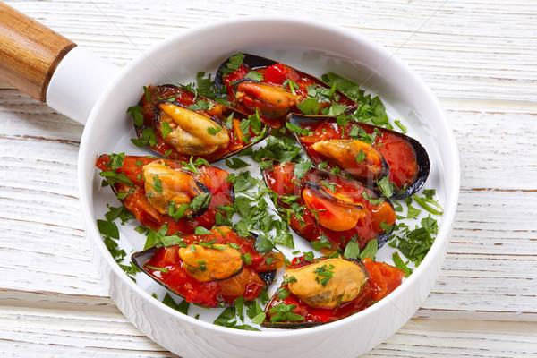 Salsa tapas España alimentos recetas peces Foto stock © lunamarina