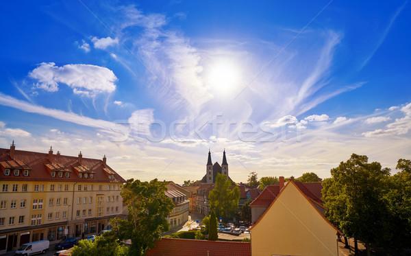 Nordhausen skyline in Harz Thuringia of Germany Stock photo © lunamarina
