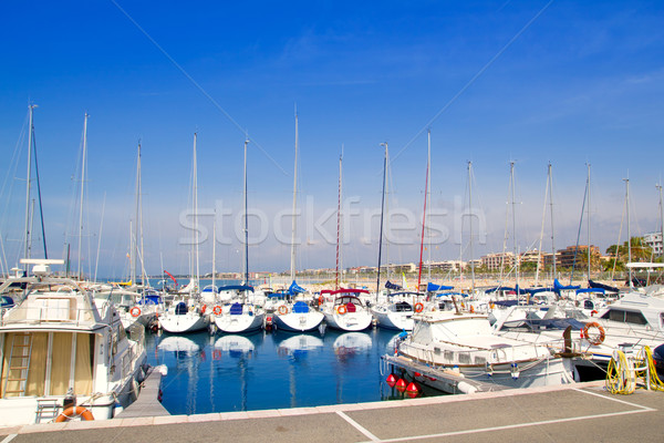 Bleu marina port plage eau mer Photo stock © lunamarina
