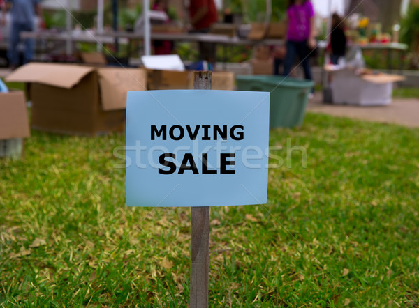 Moving sale in an american weekend on the yard Stock photo © lunamarina
