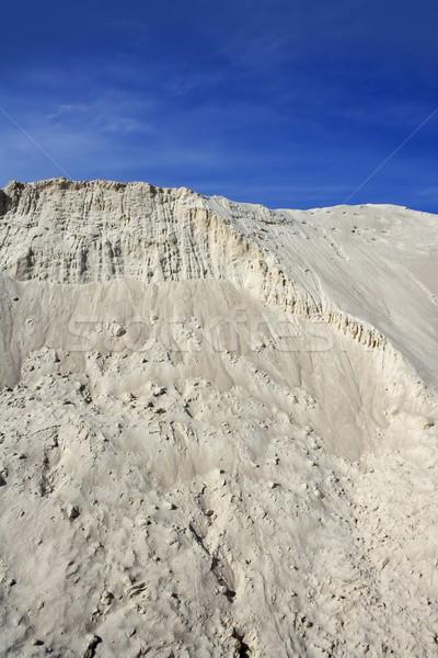 white sand mound quarry like moon landscape Stock photo © lunamarina