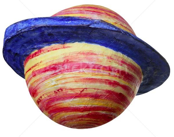 красочный фантазий пространстве планеты изолированный белый Сток-фото © lunamarina