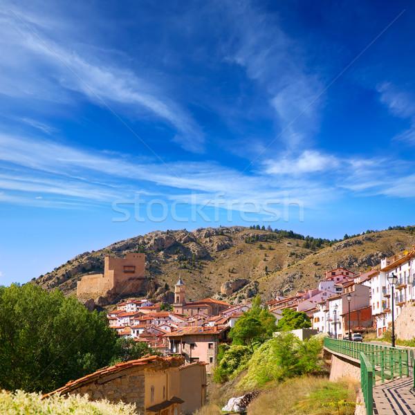 Alcala de la Selva in Teruel village near Virgen de la Vega Stock photo © lunamarina