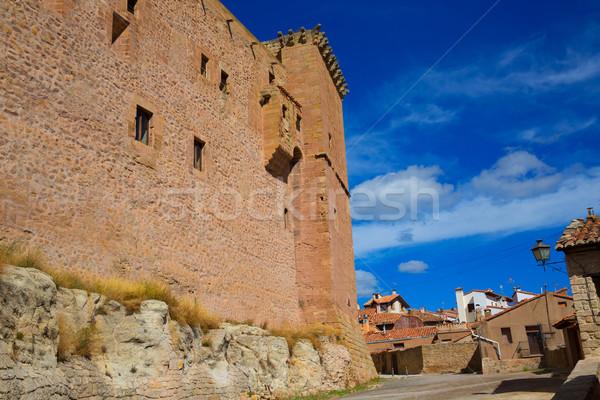 Muslim Burg Spanien blau sonnig Himmel Stock foto © lunamarina