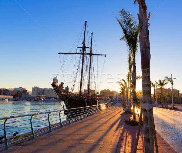 Gandia port puerto Valencia in Mediterranean Spain Stock photo © lunamarina