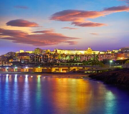 ポート スカイライン スペイン 地中海 市 オレンジ ストックフォト © lunamarina