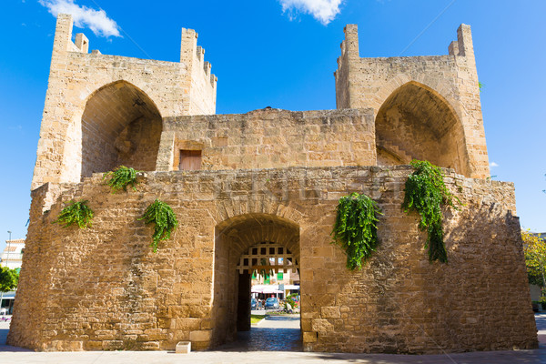 Stock photo: Alcudia Old Town in Majorca Porta des Moll Mallorca Balearic isl
