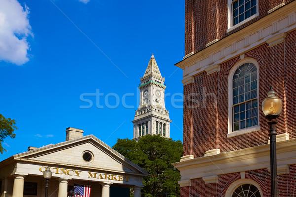 Бостон дома башни рынке Массачусетс Сток-фото © lunamarina