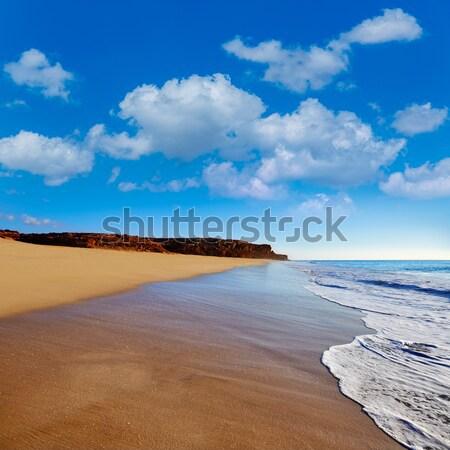 日没 ビーチ スペイン 水 太陽 海 ストックフォト © lunamarina