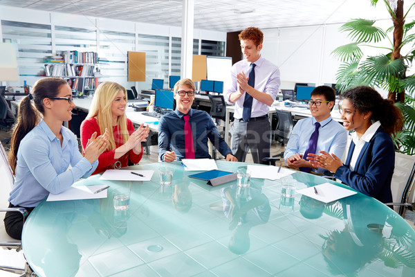 Executive business team clapping hands meeting Stock photo © lunamarina