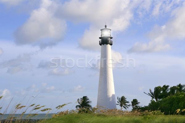 Lighthouse in Key Biscayne Florida sunset Stock photo © lunamarina