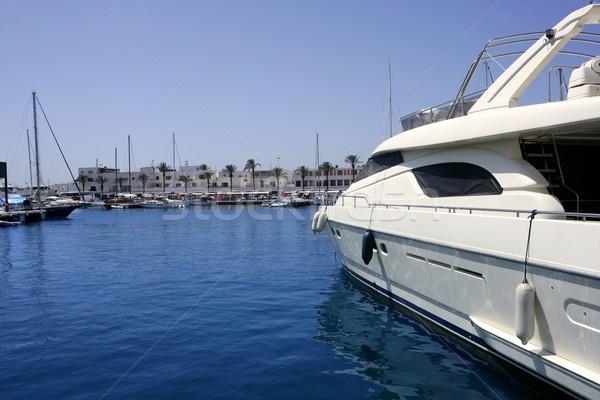 La Savina port in Formentera balearic island Stock photo © lunamarina