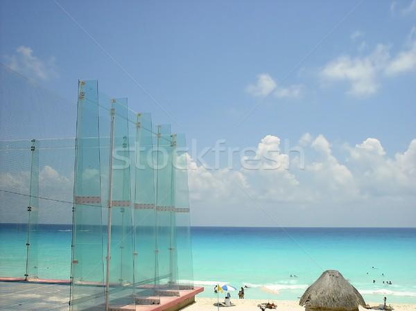 Esportes vidro campo caribbean mar cancun Foto stock © lunamarina
