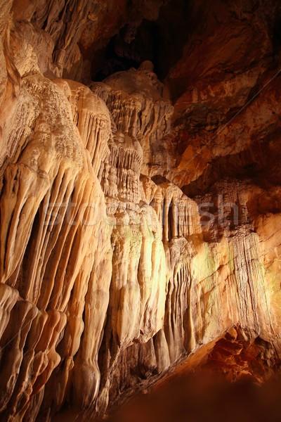 cave stalactites underground cavern magic light Stock photo © lunamarina