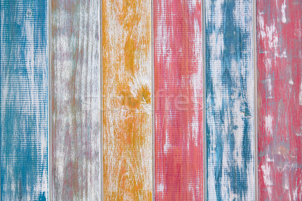 Colorful mexican stripes chalk painted wood Stock photo © lunamarina