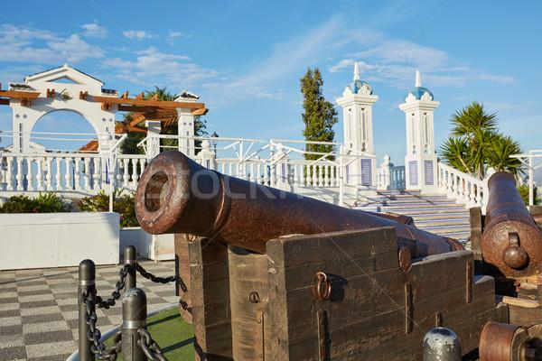 Benidorm old Canon at Mirador del Castillo Stock photo © lunamarina