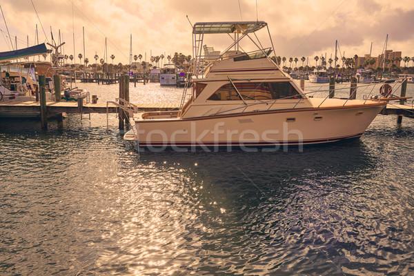 Praia Flórida marina barcos EUA rio Foto stock © lunamarina