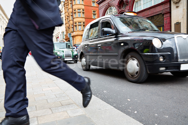 Londres taxi oxford calle westminster carretera Foto stock © lunamarina