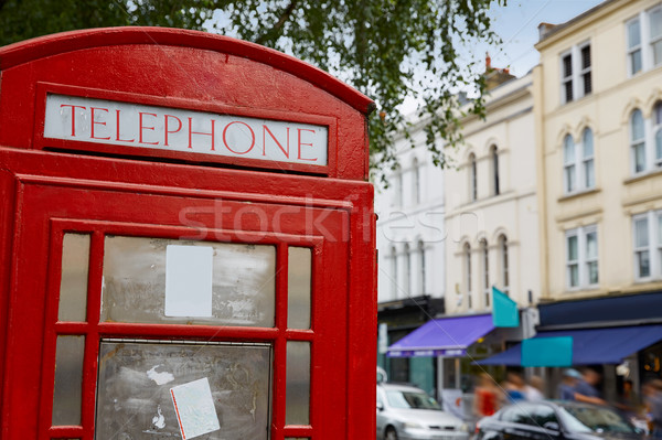 Stock photo: London telephone box inPortobello road UK