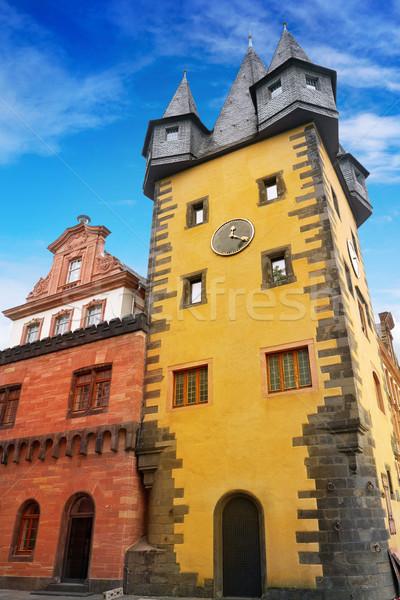 Francfort musée façade Allemagne ciel été Photo stock © lunamarina