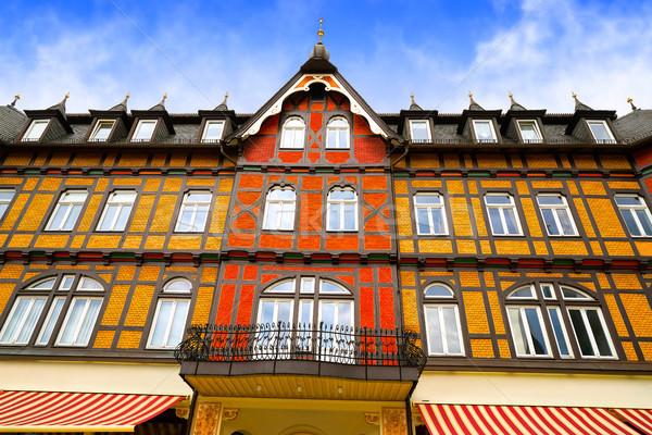 Allemagne ville été bleu montagnes Europe Photo stock © lunamarina