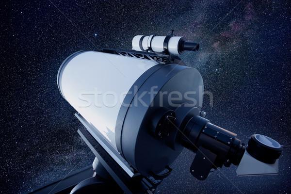 Astronomik teleskop Yıldız gece gece gökyüzü gökyüzü Stok fotoğraf © lunamarina