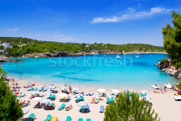 Ibiza Portinatx turquoise beach paradise island Stock photo © lunamarina